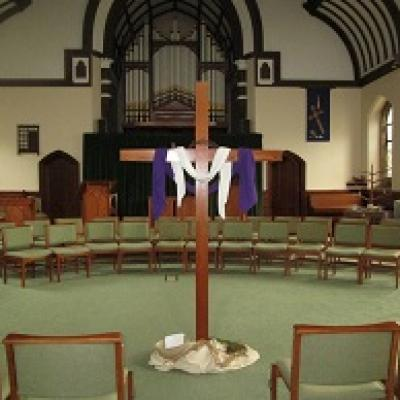 Cross in Stokesley Methodist Church