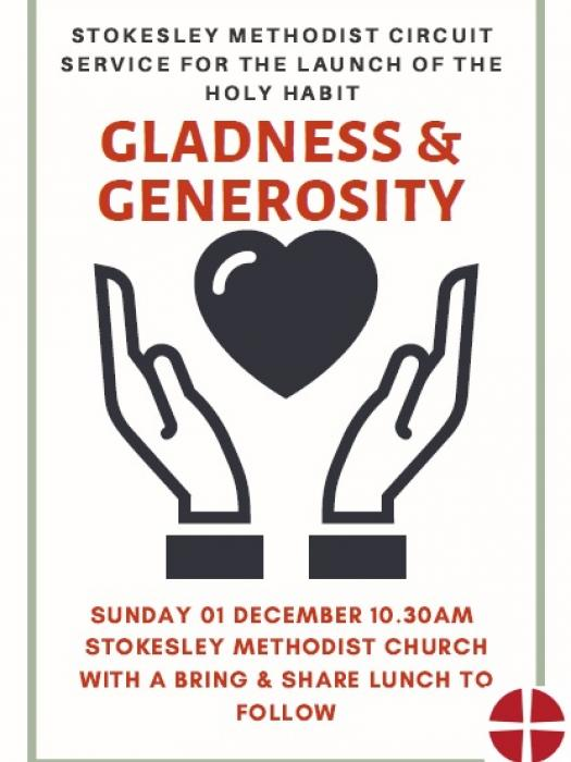 Gladness and generosity poster