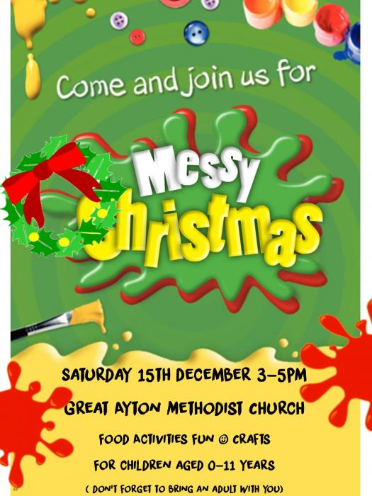messy church christmas 2018 posters