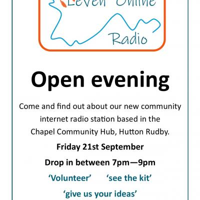 radio poster open evening