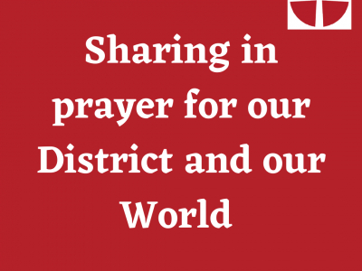 Sharing in prayer for our District and our World